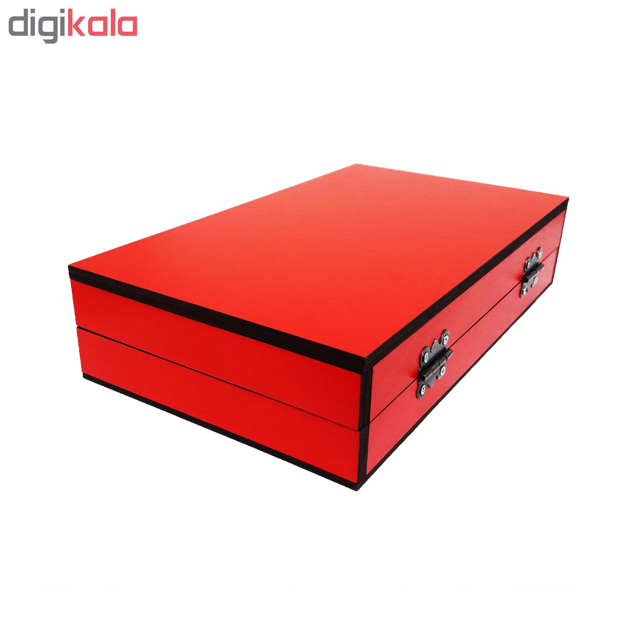 خرید                      جعبه هدیه چوبی آیهان باکس مدل 10
