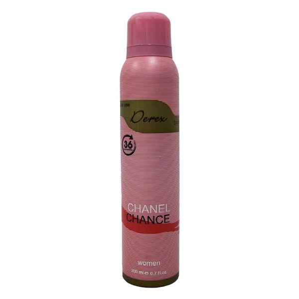 اسپری خوشبو کننده بدن زنانه دریکس مدل Chanel Chance حجم 200 میلی لیتر