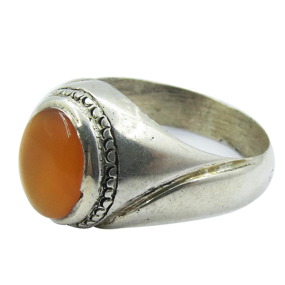 انگشتر نقره مردانه کد A۱۶۲۱