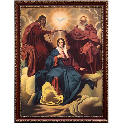 تابلو نقاشی رنگ روغن طرح تاج گذاری مریم مقدس  کد Oi.C-L_001