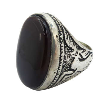 انگشتر نقره مردانه کد A۱۵۱۹