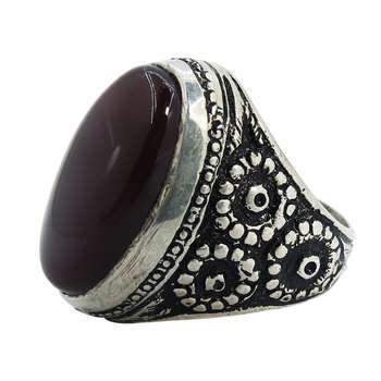 انگشتر نقره مردانه کد A۱۵۱۶