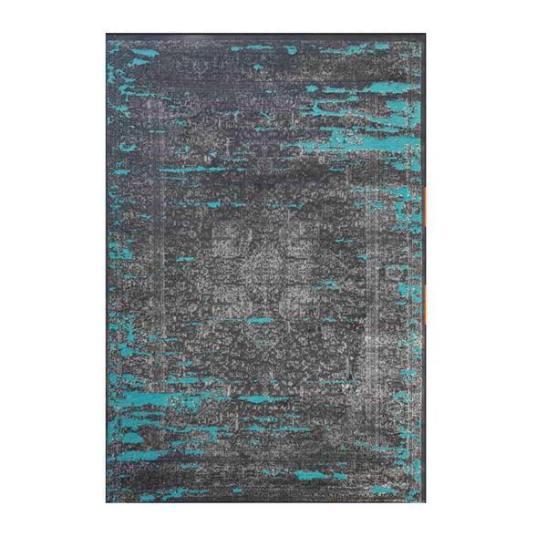 فرش ماشینی طرح پتینه کد 2013 زمینه آبی