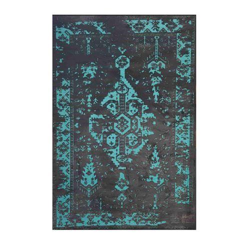 فرش ماشینی طرح پتینه کد 2018 زمینه آبی