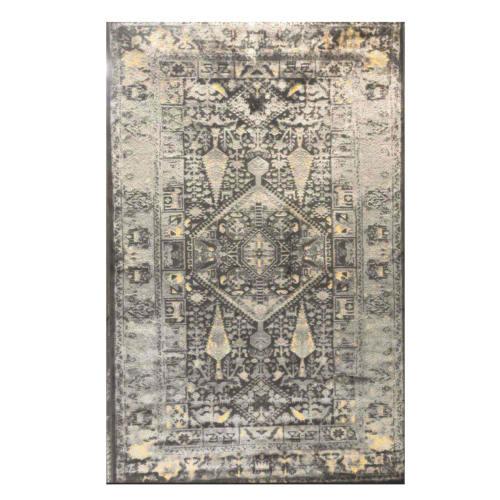 فرش ماشینی طرح پتینه کد 2023 زمینه لیمویی