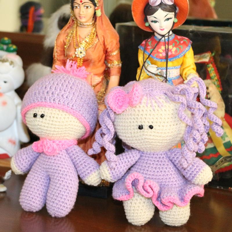 خرید                      عروسک بافتنی طرح دختر و پسر کد 15 مجموعه 2 عددی