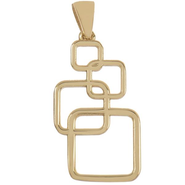 آویز گردنبند طلا 18 عیار زرین مدل AB209