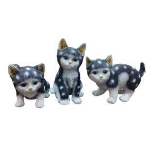 مجسمه مدل گربه کد T432 مجموعه ۳ عددی