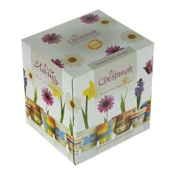 دستمال کاغذی 100 برگ چشمک طرح گلدان