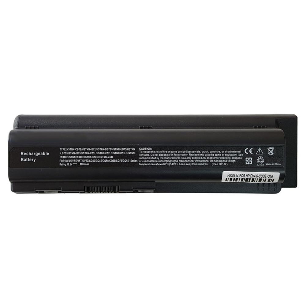 باتری لپ تاپ 12 سلولی مدل PD4 برای لپ تاپ HP Pavilion DV4-DV5-CQ40-CQ50-CQ60  