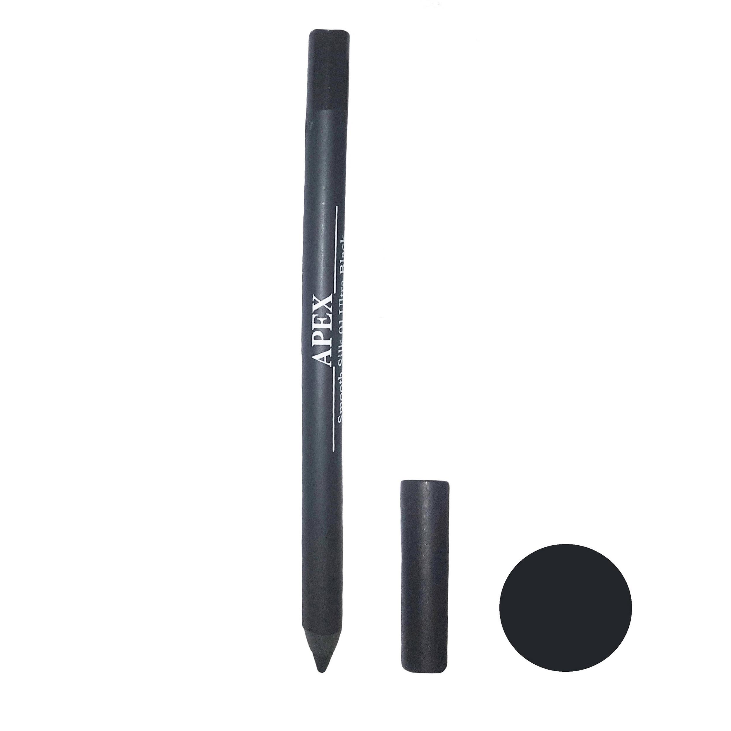 مداد چشم فوق مشکی اپکس  مدل Smooth Silk شماره 01
