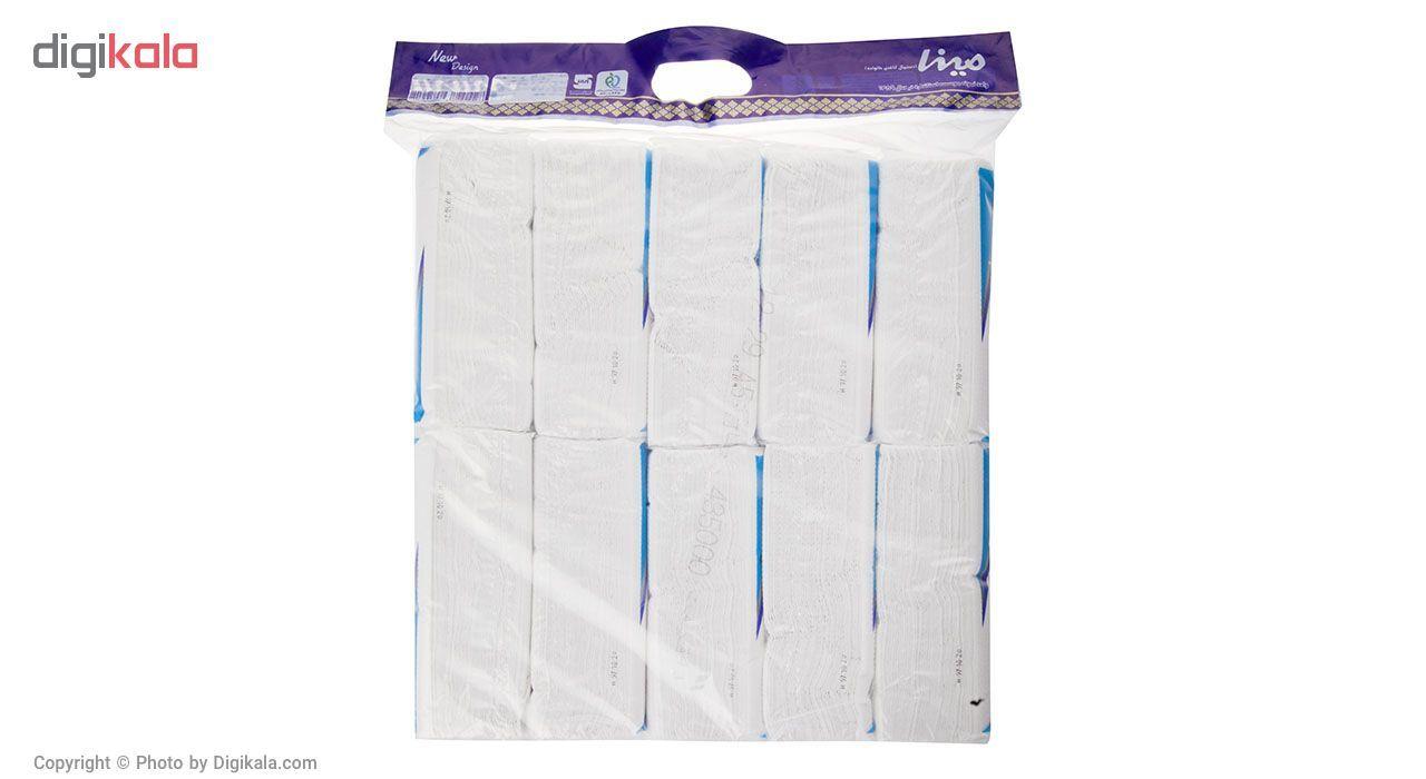دستمال کاغذی 100 برگ مینا مدل Blue بسته 10 عددی main 1 2