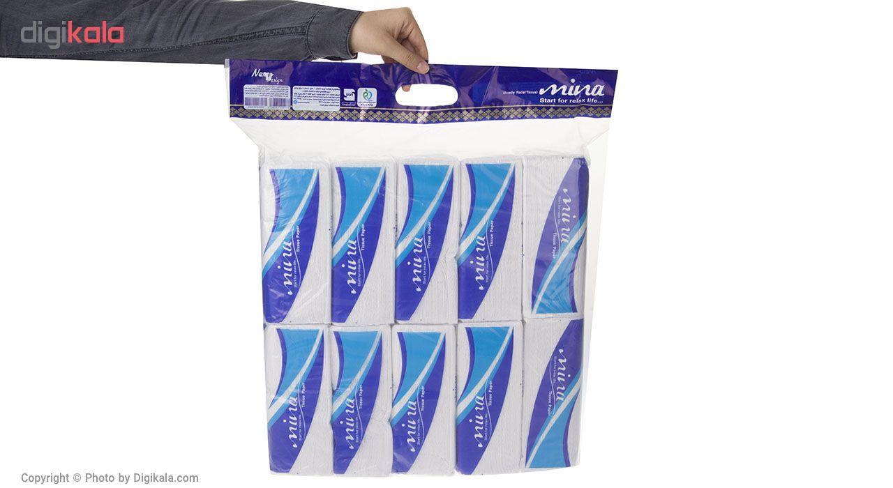 دستمال کاغذی 100 برگ مینا مدل Blue بسته 10 عددی main 1 3