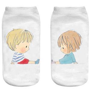 جوراب بچگانه طرح پسر و دختر