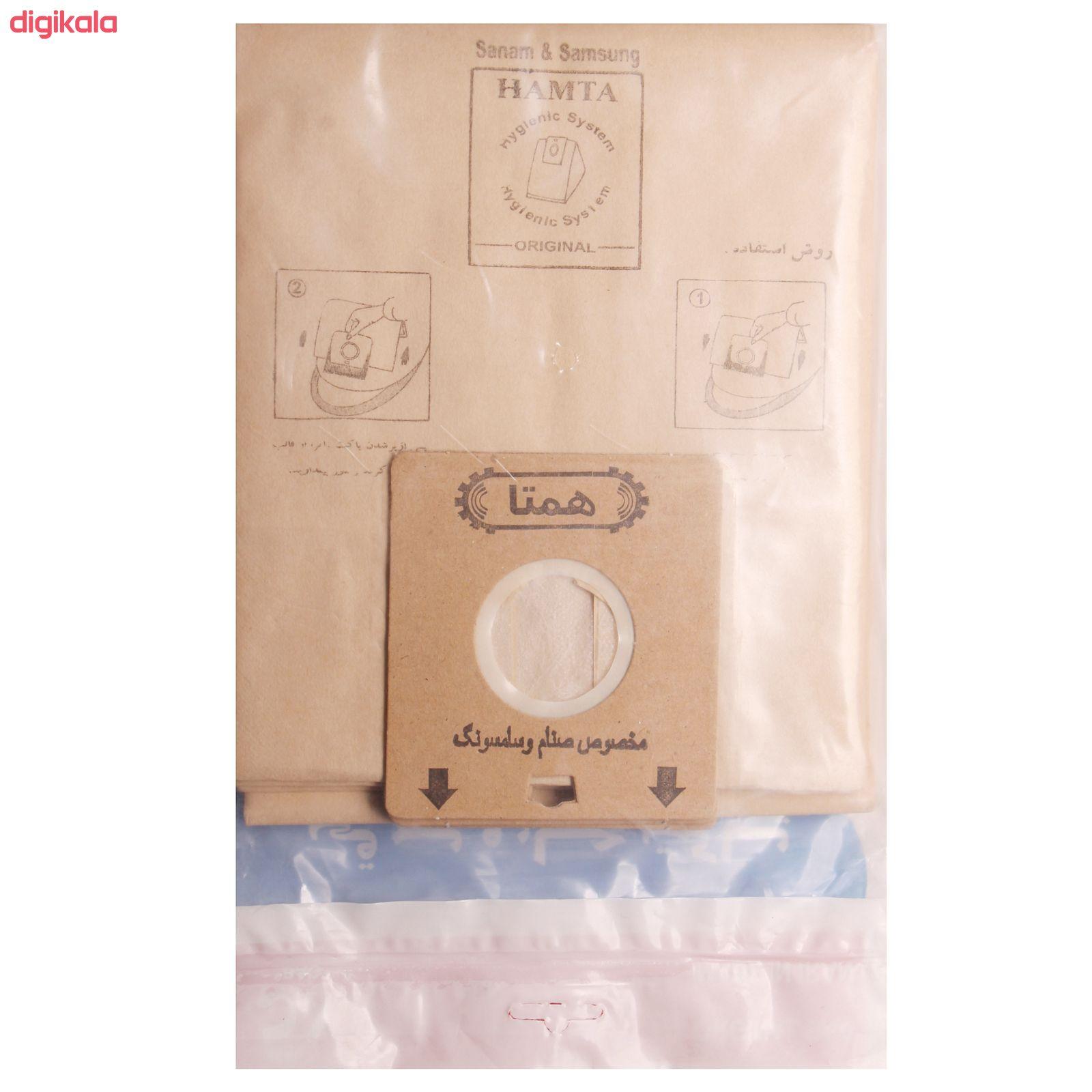 کیسه جارو برقی همتا کد 8887 بسته 5 عددی مناسب برای جاروبرقی صنام و سامسونگ main 1 1