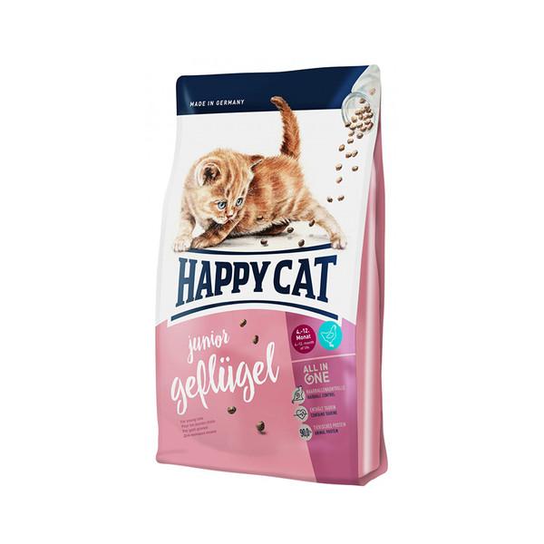 غذای خشک بچه گربه هپی کت مدل Jonior Poultry وزن 1.4 کیلوگرم