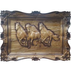 تابلو منبت کاری مدل سه اسب دونده
