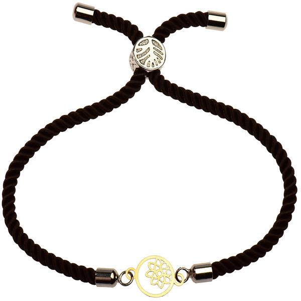دستبند طلا 18 عیار دخترانه کرابو طرح گل و ستاره مدل Krd1149
