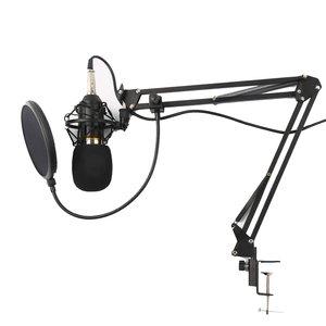 میکروفن کندانسر مدل Live Broadcast Equipment همراه با پایه تلسکوپی