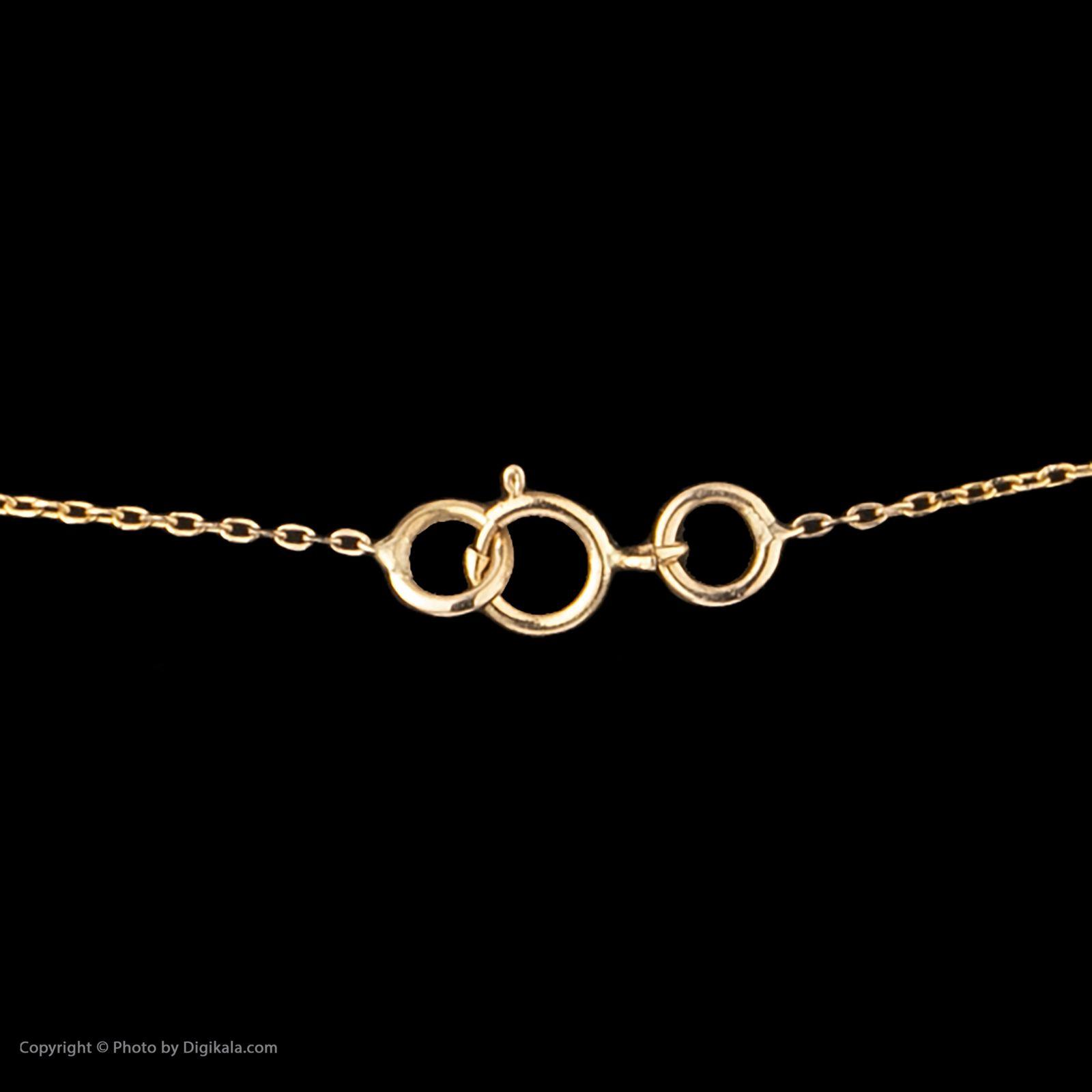 گردنبند طلا 18 عیار زنانه سنجاق مدل X081807 -  - 4