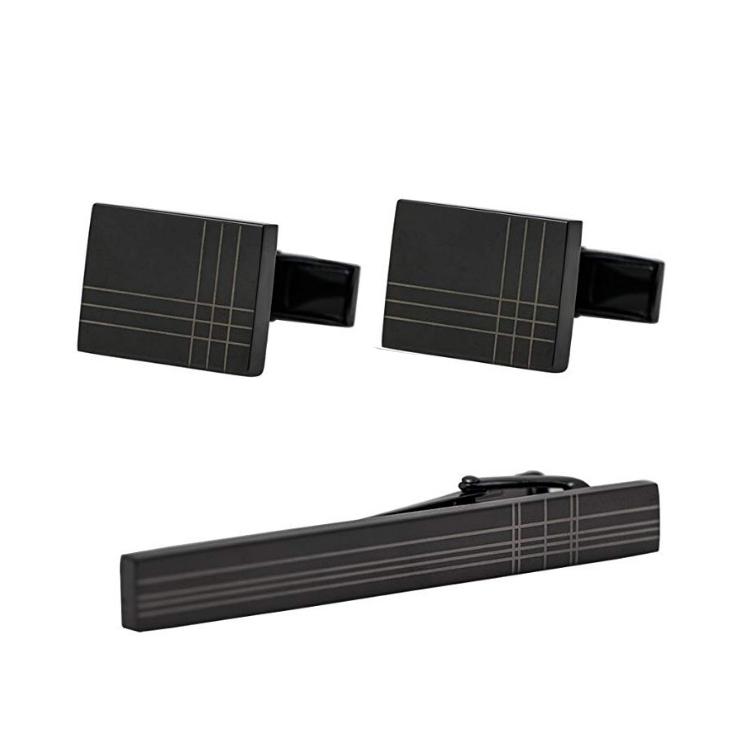 ست دکمه سردست و گیره کراوات زرکات مدل S215
