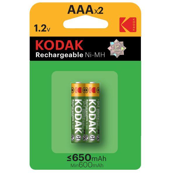 باتری نیم قلمی قابل شارژ کداک مدل Rechargeable 650 mAh بسته ۲ عددی