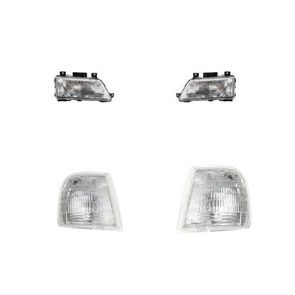 چراغ جلو و راهنما فن آوران پرتو الوند مدل 405 مناسب برای پژو 405 بسته 4عددی