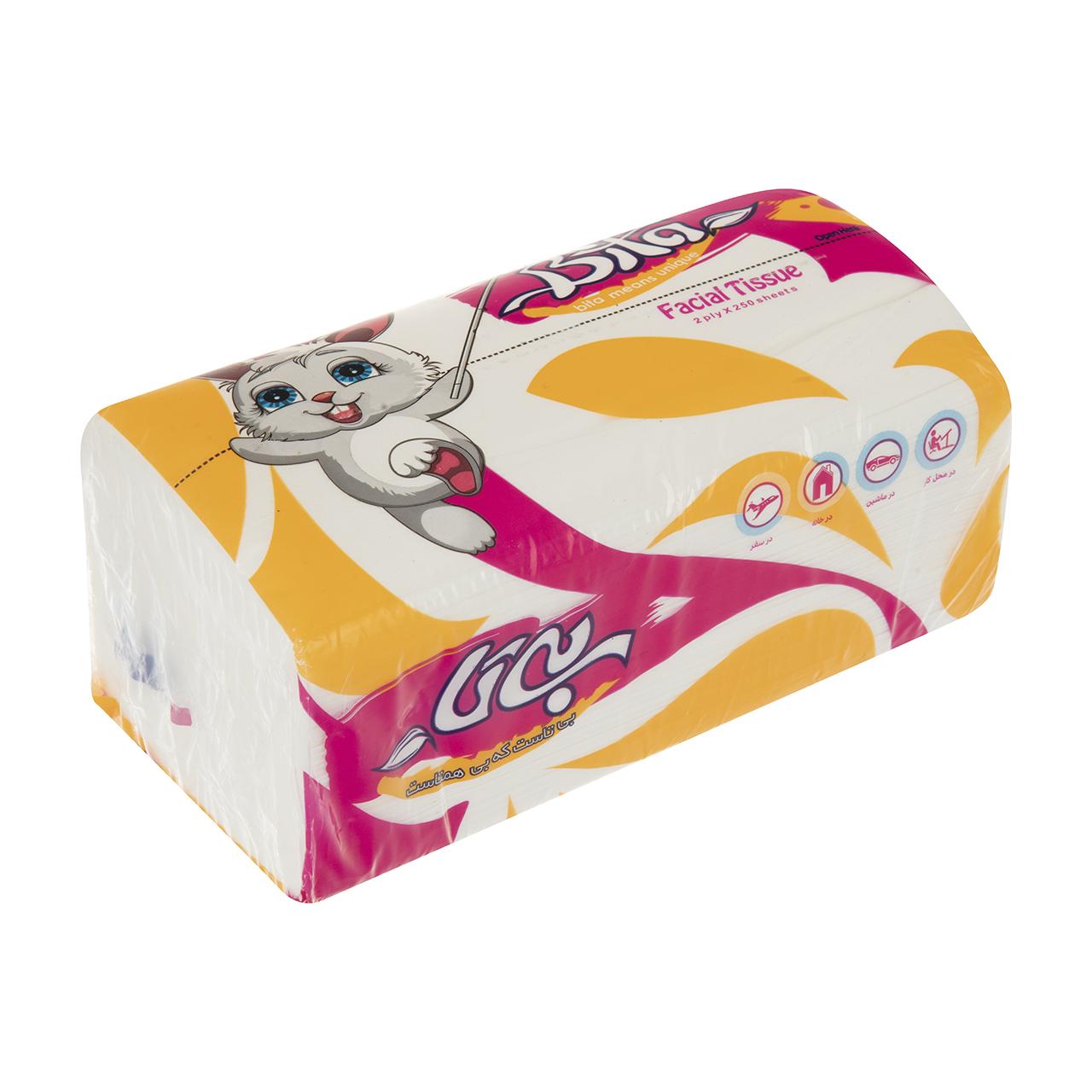 دستمال کاغذی 250 برگ بی تا مدل Rabbit Facial Tissue