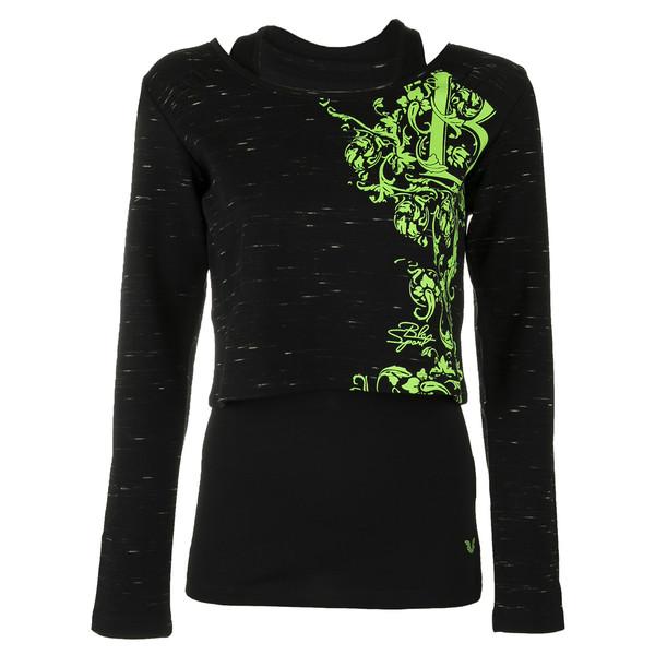 ست تاپ و تی شرت زنانه بیلسی مدل 51W8384-IN-SIYAH-NEONYESIL