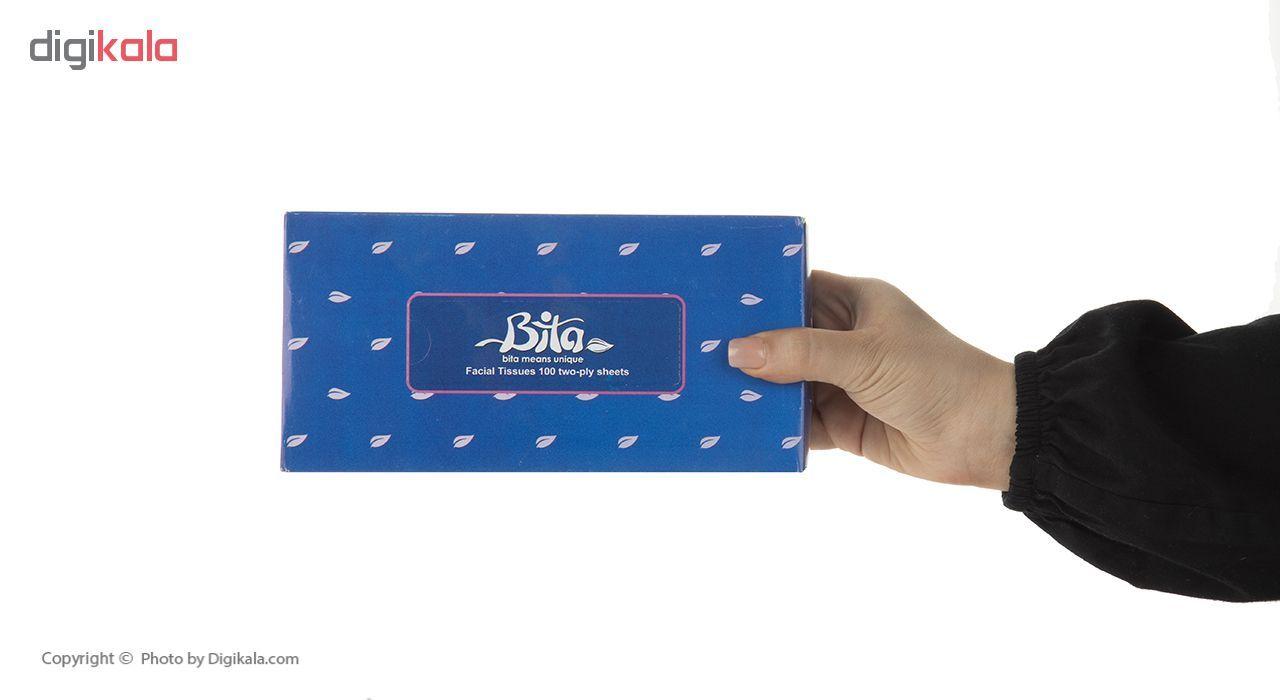 دستمال کاغذی 100 برگ بی تا بسته 4 عددی main 1 2