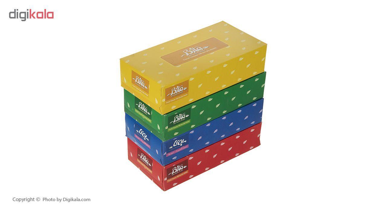 دستمال کاغذی 100 برگ بی تا بسته 4 عددی main 1 3