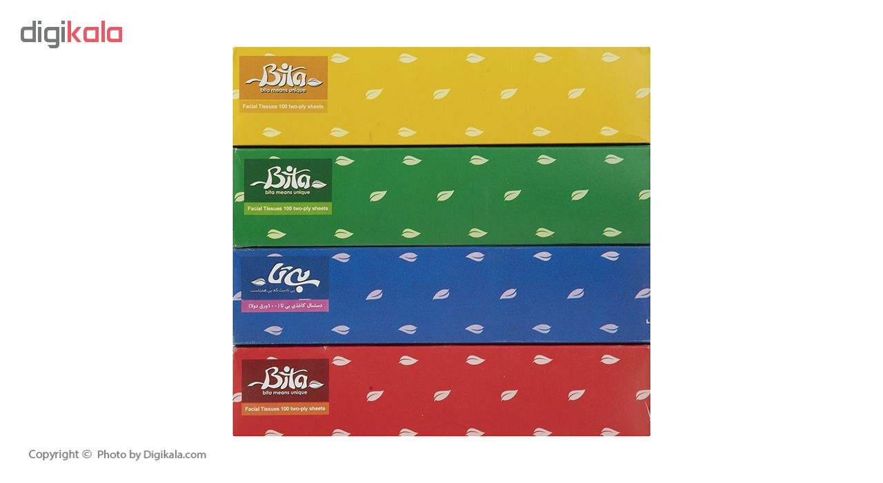دستمال کاغذی 100 برگ بی تا بسته 4 عددی main 1 4