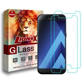 محافظ صفحه نمایش لایونکس مدل Ultra Powerful Shield مناسب برای گوشی موبایل سامسونگ Galaxy A5 2017 بسته دو عددی