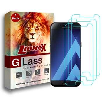 محافظ صفحه نمایش لایونکس مدل Ultra Powerful Shield مناسب برای گوشی موبایل سامسونگ Galaxy A5 2017 بسته سه عددی
