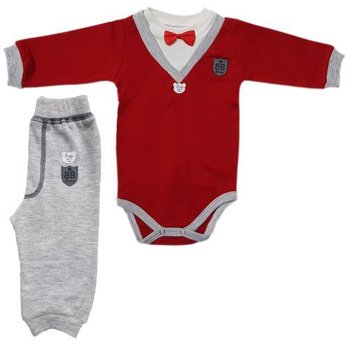 ست 2 تکه لباس پسرانه بارلی طرح پاپیون کد 001