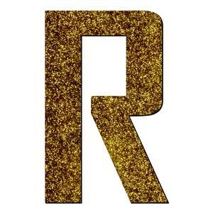 تابلو راهنما آژنگ طرح حروف دکوراتیو انگلیسی کد-R-LAMEH-TALA