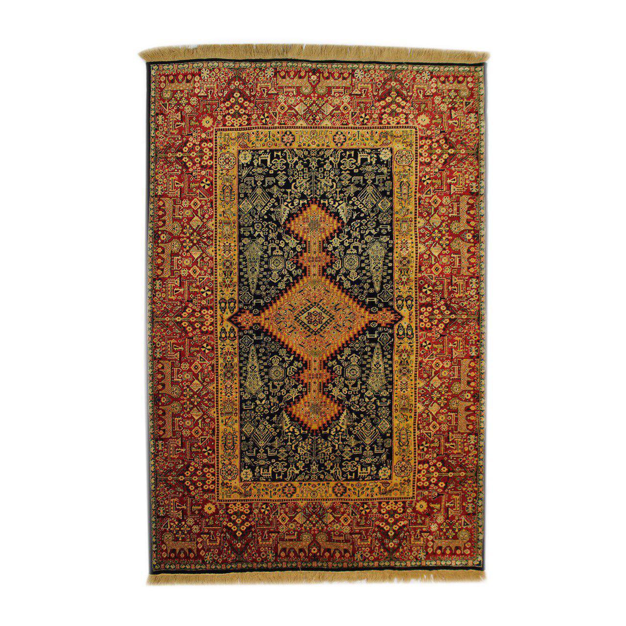فرش دستبافت شش متری طرح قشقایی کد 1104505