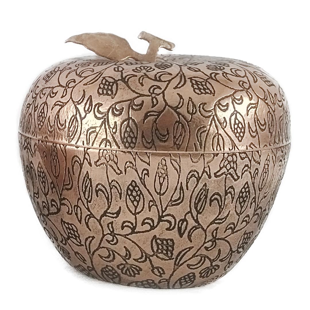 قندان مسی طرح سیب کد 4005