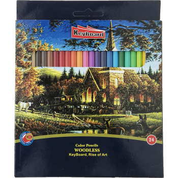 مداد رنگی 24 رنگ کیبورد مدل 200476 | Keyboard  200476 Color Pencil Pack of 24