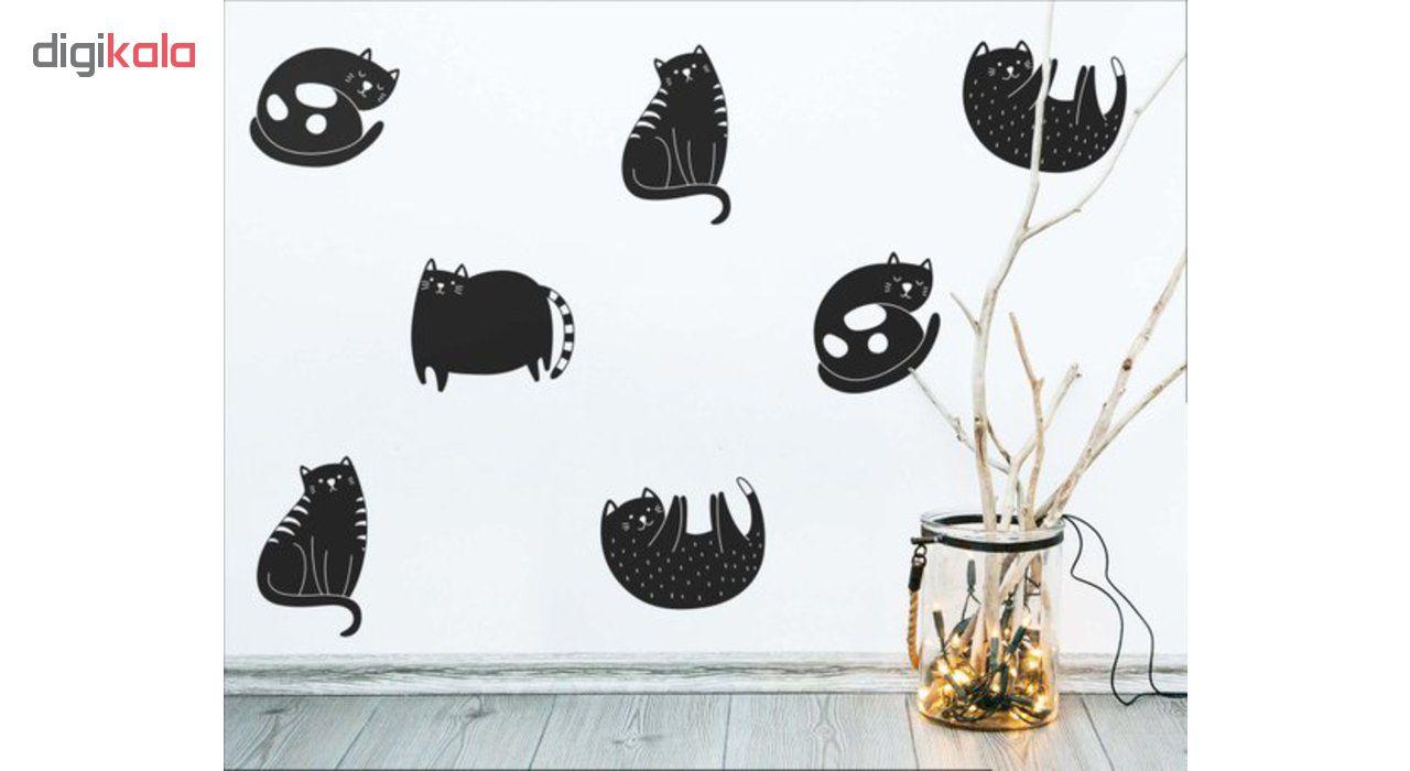 استیکر رومادون طرح گربه کد4027 مجموعه 15 عددی