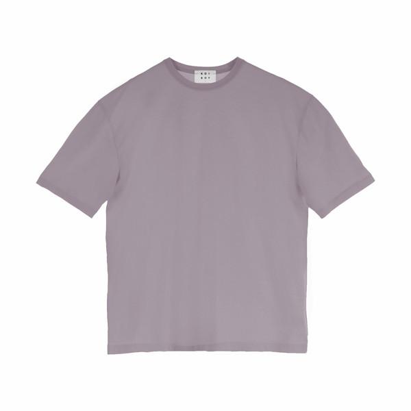 تیشرت آستین کوتاه مردانه کوی مدل هی بوی رنگ بنفش