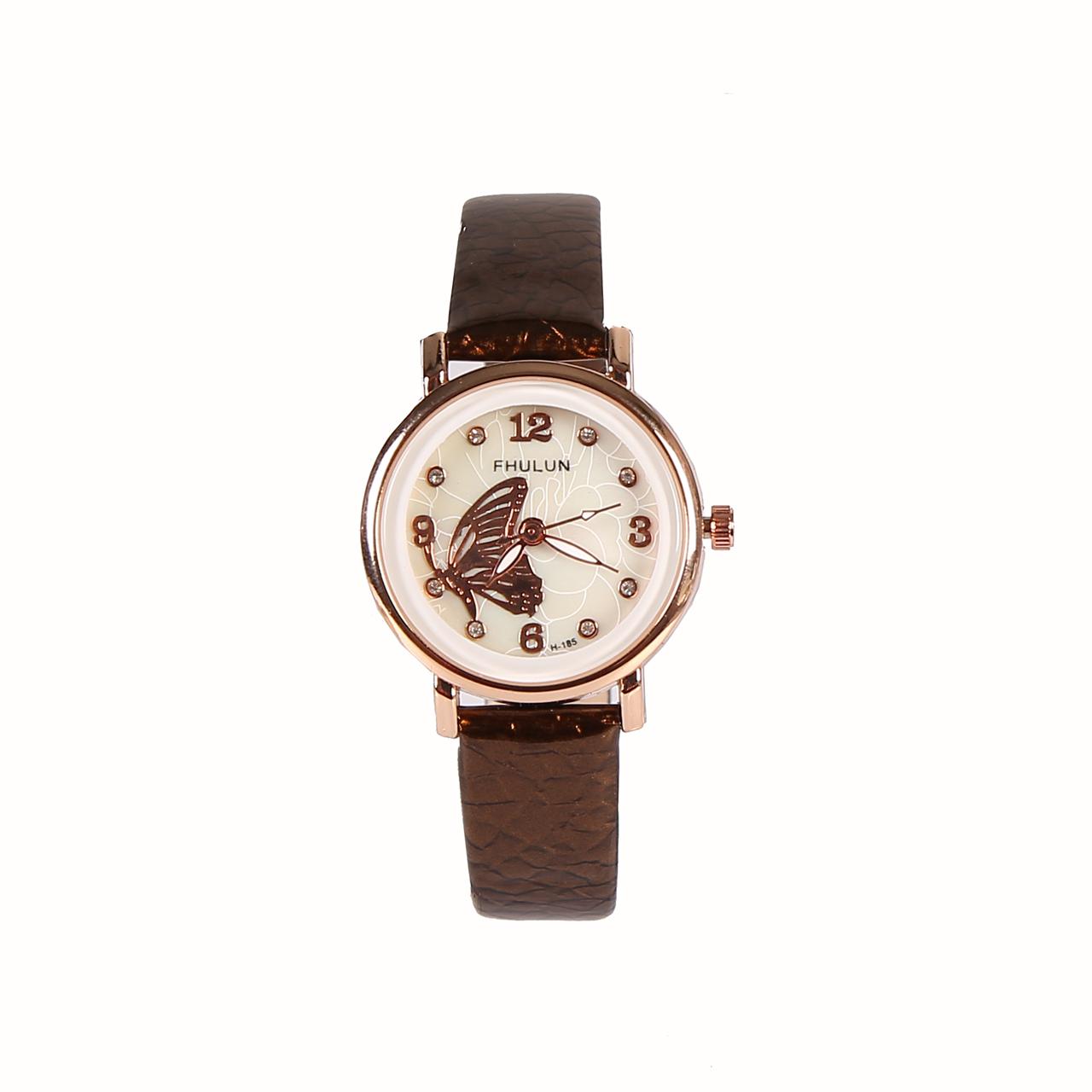 ساعت مچی عقربه ای زنانه فولون مدل پروانه ای کد 01