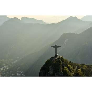تابلو شاسی سری زیباترین عکس های جهان طرح مجسمه ی حضرت مسیح کد 211