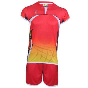 پیراهن و شورت ورزشی مردانه هدف اسپرت مدل لیگا HDF05 رنگ قرمز  