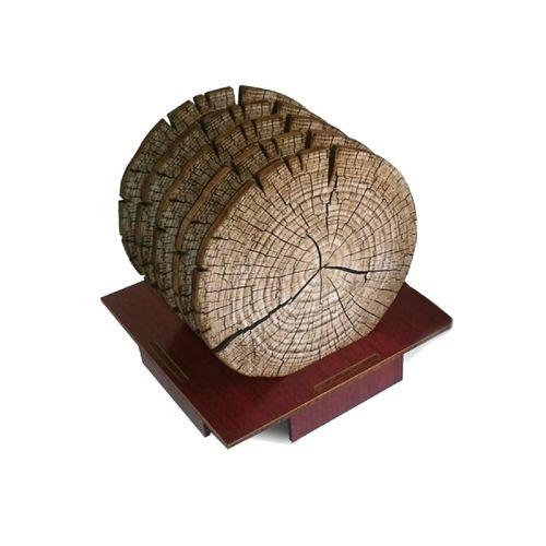 زیر لیوانی طرح تنه درخت مدل MRP 001