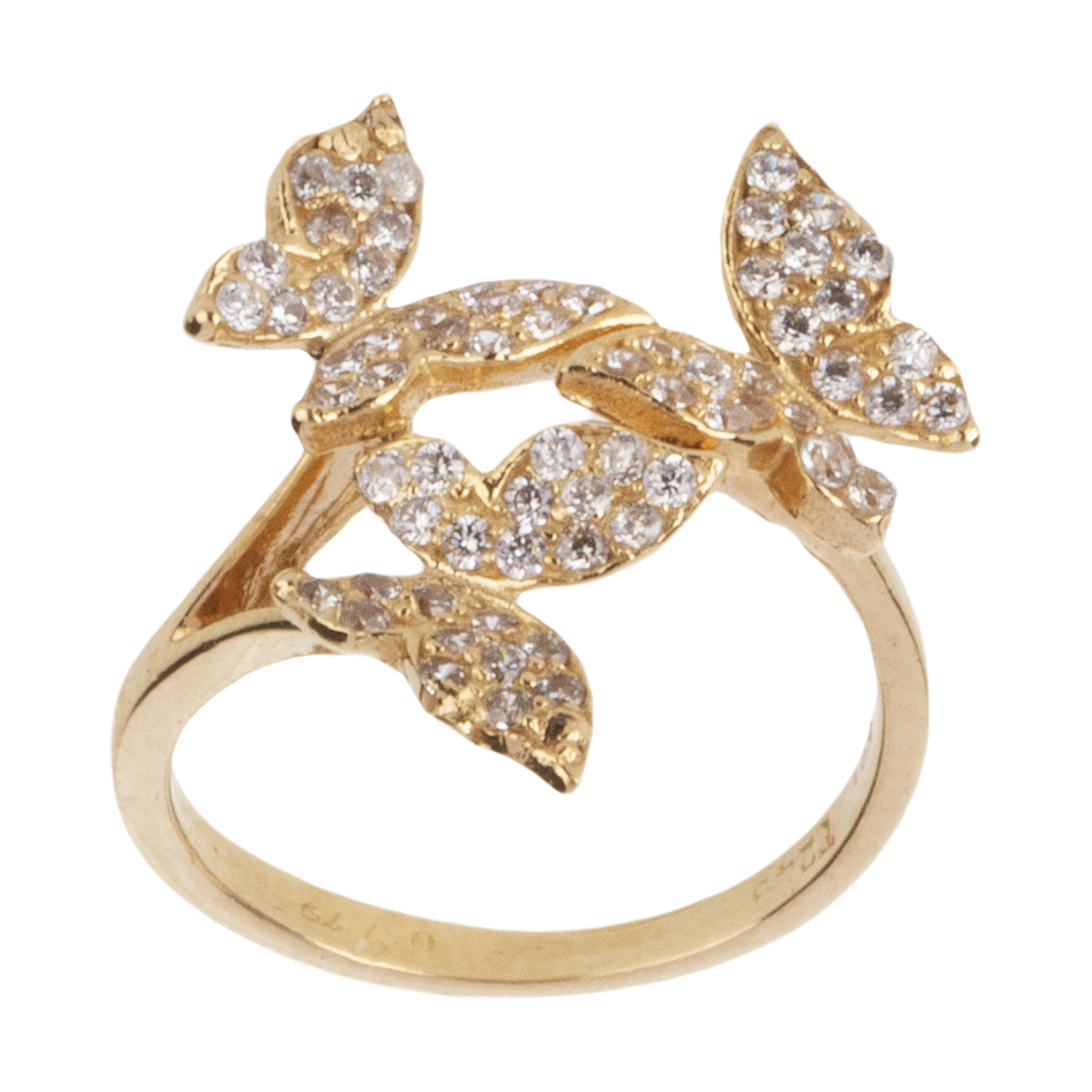 انگشتر طلا 18 عیار زنانه میو گلد مدل GD567-51