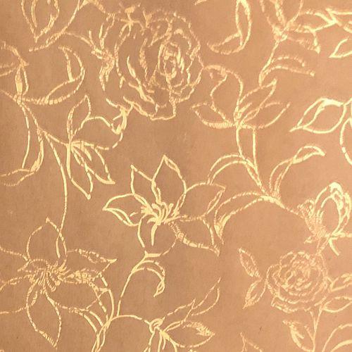 کاغذ کادو طرح  گل رز طلاکوب بسته 3 عددی