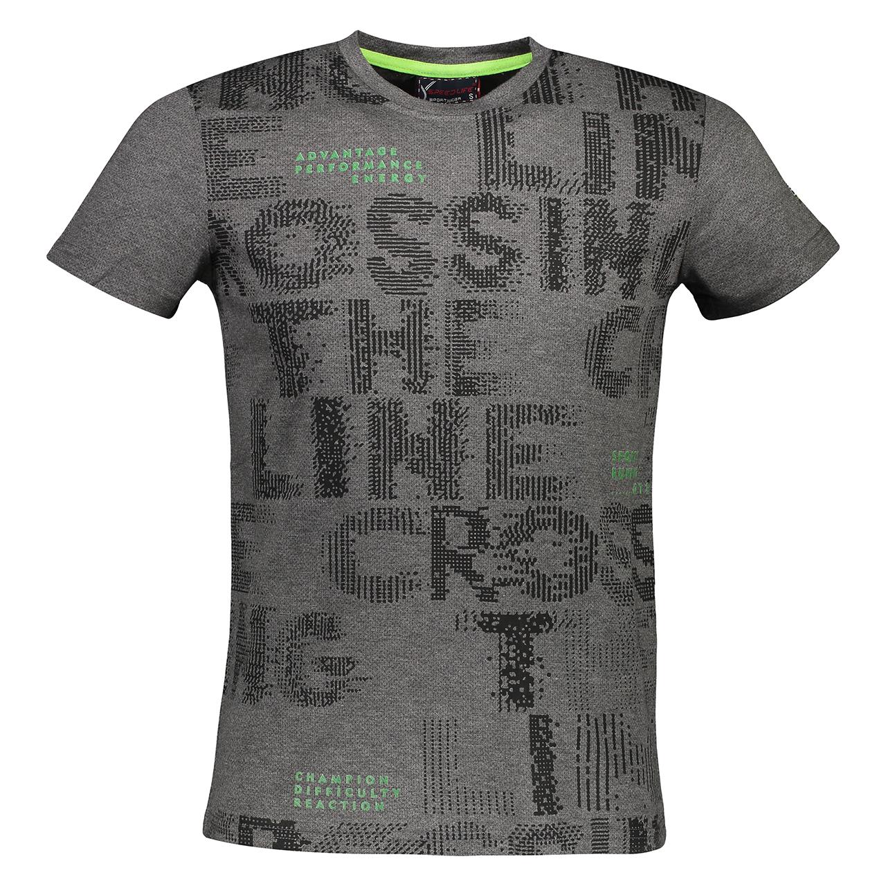 تی شرت ورزشی مردانه اسپید لایف مدل SF-0075 BLACK
