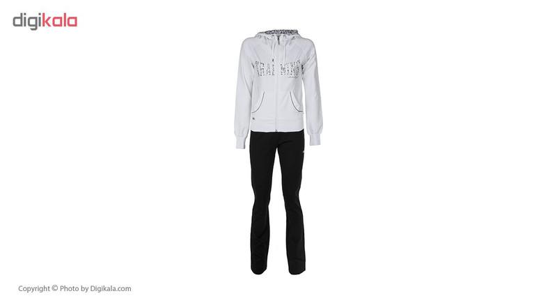 ست هودی و شلوار ورزشی زنانه بیلسی مدل 15Y7055-2IP-SIYAH-BEYAZ