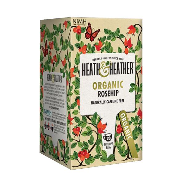 دمنوش هیت و هیتر مدل Organic RoseHip بسته 20 عددی